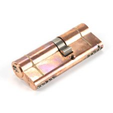 From The Anvil Euro Lock Cylinder 35/45 Polished Bronze Key Differ