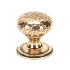 From The Anvil Hammered Mushroom Cabinet Knob 38 Polished Bronze