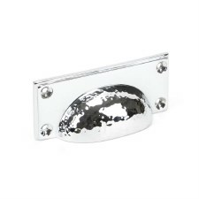 From The Anvil Hammered Art Deco Drawer Pull Polished Chrome