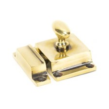From The Anvil Cabinet Latch Aged Brass