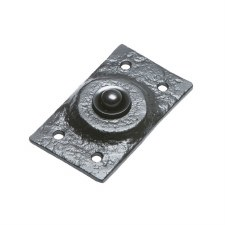 Kirkpatrick 4748 Door Bell Push Antique Black