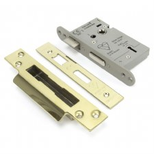 "From The Anvil 5 Lever Heavy Duty Sash Lock BS 2.5"" Polished Brass Keyed Differ"