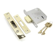 "From The Anvil 5 Lever Deadlock 3"" Polished Brass Key Differ"