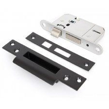 "From The Anvil 5 Lever Sash Lock BS 2.5"" Keyed Alike Black"