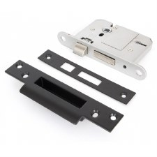 "From The Anvil 5 Lever Sash Lock BS 3"" Black"