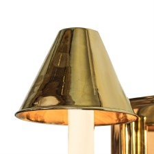 "Metal Coolie Shade 5"" Polished Brass"