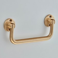 Croft 5202 Lifting Handle Satin Brass Lacquered