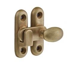 Croft 5210 Oval Knob Cabinet Catch Light Antique Brass