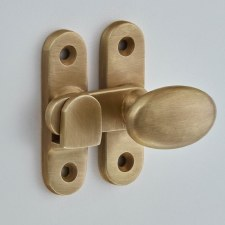 Croft 5211 Oval Knob Cabinet Catch Light Antique Brass