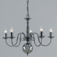 Flemish 5 Arm Chandelier Gun Metal
