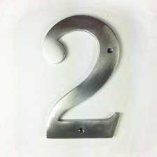 Numeral 2 Satin Chrome 150mm