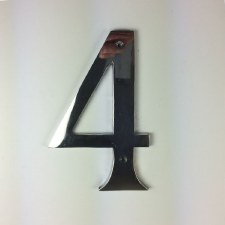 Numeral 4 Polished Chrome 150mm