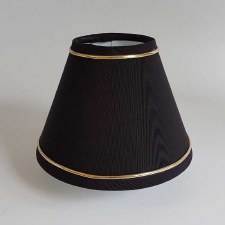 "6"" Pvc Coolie Shade Black with Gold Trim"