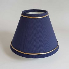 "6"" Pvc Coolie Shade Blue with Gold Trim"
