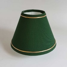 "6"" Pvc Coolie Shade Green with Gold Trim"