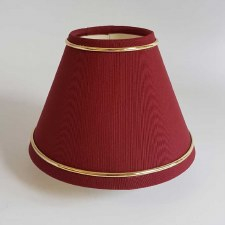 "6"" Pvc Coolie Shade Red with Gold Trim"