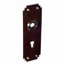 BROLITE 6050 Bakelite Lock Back-plate ONLY Walnut