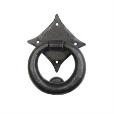 Kirkpatrick 6058 Gothic Ring Door Knocker Antique Black