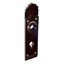 BROLITE 6080 Bakelite Back-plate ONLY Walnut
