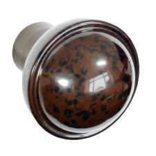 BROLITE 6117 Bakelite Ogee Stepped Round Door Knob ONLY Walnut