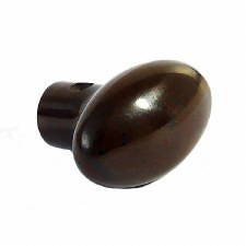 BROLITE 6125 Bakelite Plain Oval Knob ONLY Walnut