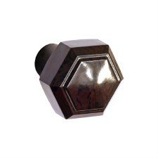BROLITE 6130 Bakelite Hexagonal Knob ONLY Walnut