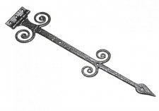 Kirkpatrick Fancy Tee Hinges 622 Antique Black