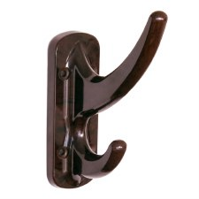 BROLITE 6340 Bakelite Hat & Coat Hook Walnut
