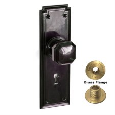 Brolux Bakelite 6401 Door Knobs Black With Keyhole