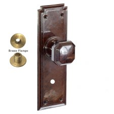 Brolux Bakelite 6403 Bathroom Door Knobs Walnut with Chrome Turn