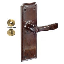 Brolux Bakelite 6404 Bathroom Door Handles Walnut