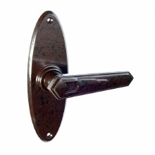 BROLITE 6609 Real Bakelite Unsprung Door Handles Walnut
