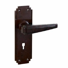 BROLITE 6611 Real Bakelite Unsprung Door Lock Handles Walnut