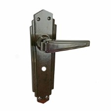 BROLITE 6629M Real Bakelite Unsprung Bathroom Lock Handles Walnut