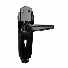 BROLITE 6629 Real Bakelite Unsprung Door Lock Handles Black