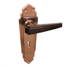 BROLITE 6629M Coppered with Walnut Bakelite Lock Handles
