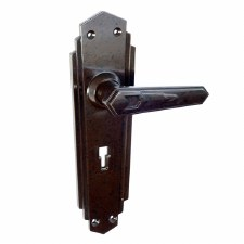 BROLITE 6630 Real Bakelite Unsprung Door Lock Handles Walnut