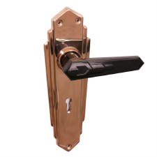 BROLITE 6630M Coppered with Unsprung Black Bakelite Lock Handles