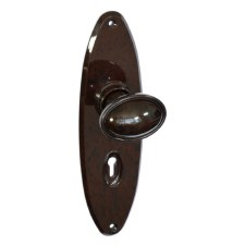 BROLITE 6650 Real Bakelite Door Knobs Walnut