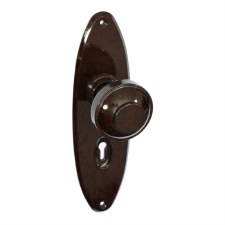 BROLITE 6654 Real Bakelite Door Knobs Walnut