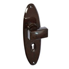 BROLITE 6667 Real Bakelite Door Knobs Walnut