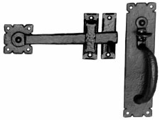 Kirkpatrick 671 Suffolk Thumb Latch Antique Black