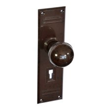 BROLITE 6725 Real Bakelite Door Knobs Walnut