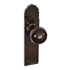 Bakelite Ball Door Knobs on Palais Latchplate Walnut