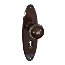 BROLITE 6736 Real Bakelite Door Knobs Walnut