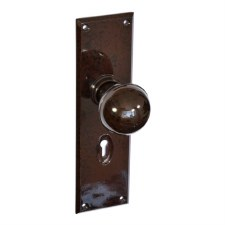 BROLITE 6737 Real Bakelite Door Knobs Walnut