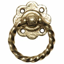 Kirkpatrick B679 Ring Handle ONLY Hammered Brass