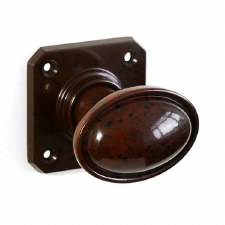 BROLITE 6813 Real Bakelite Door Knobs Walnut
