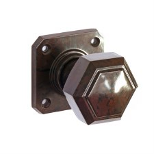 BROLITE 6817 Real Bakelite Door Knobs Walnut