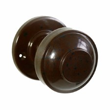 BROLITE 6821 Real Bakelite Door Knobs Walnut